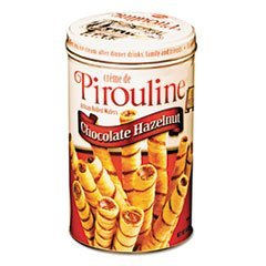 Wafers Filled Chocolate Cream (Pirouline Rolled Wafers, Chocolate Hazelnut, 14-Ounce Tin)