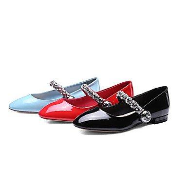 Cómodo y elegante soporte de zapatos de las mujeres pisos primavera verano otoño al aire libre de vaca comodidad oficina y carrera vestido negro azul rojo negro