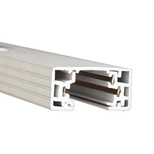 WAC Lighting HT8-WT 120V 8 Foot H Track with Mounting Hardware, Single Circuit, ()
