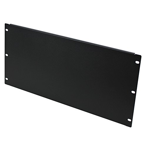 Navepoint Blank Rack Mount Panel Spacer For 19-Inch Server Network Rack Enclosure Or Cabinet Black (6U) Nav-5888