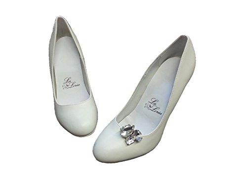 La Loria Damen 2 Schuhclips Glossy Accessoire zum Schuhe verschönern Transparent
