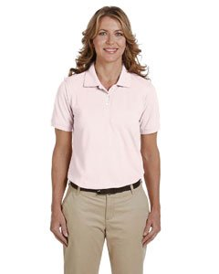 Harriton womens 5.6 oz. Easy Blend Polo(M265W)-BLUSH-3XL