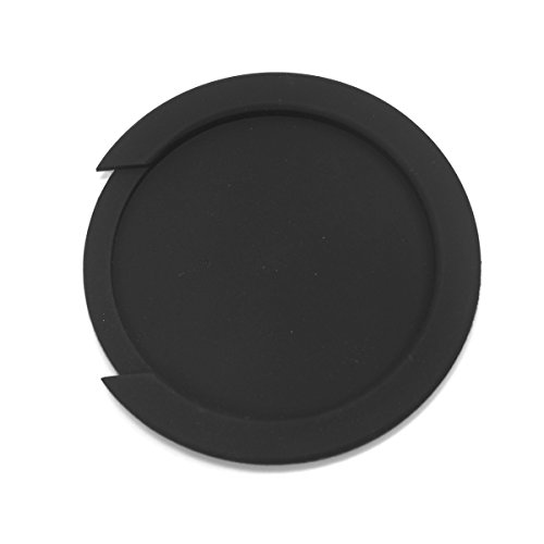 (G05) Acoustic Guitar Soundhole Cover Screeching Halt Feedback Buster Prevention,Rubber Black