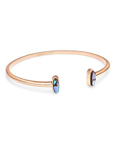 Kendra Scott Mavis Bangle Cuff Bracelet in Abalone In Rose Gold