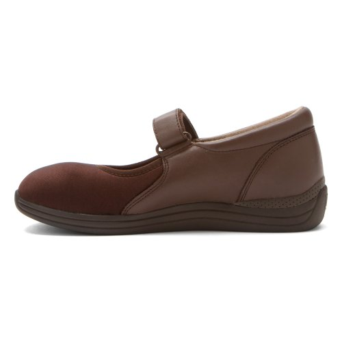 Drew Shoe Donna Magnolia Mary Janes Brown Nappa / Stretch