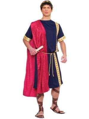 Costume Culture Men's Roman Senator Costume, Blue, Standard