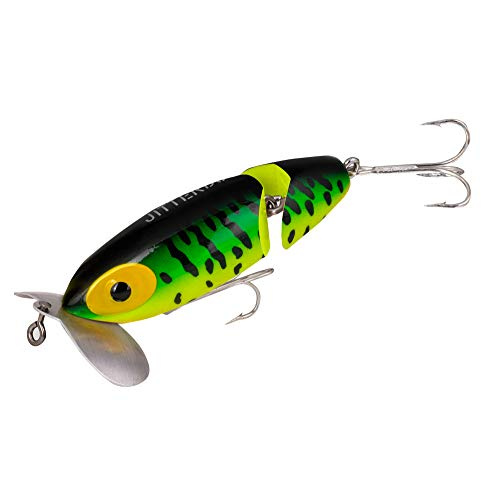 Arbogast Jointed Jitterbug Lures, Clicker Fire Tiger, 18.2-Gram