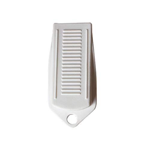 Fan-Ling White/Grey Non Slip Door Stopper Rubber Door Stop Wedge,Security Door Wedge Stops Works On All Surfaces - Home & Office Doors (White)