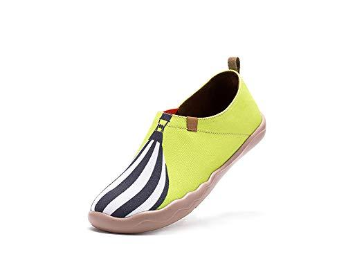 Sportives Toiles Jaune Chaussures Vent Au Peintes De Uin Femme Pour txXZgHwW