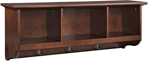 Crosley Furniture Brennan Entryway Hanging Storage Shelf - Vintage Mahogany