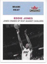 Eddie Jones 2001-02 Fleer Platinum Miam Heat HL Card -