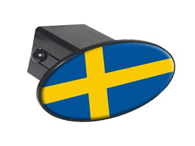 Sweden Country Flag Oval Tow Trailer Hitch Cover Plug Insert 2
