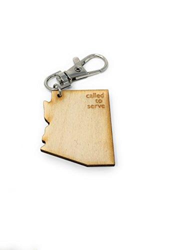 Called To Serve Wooden Keychains (Arizona)