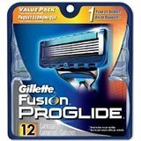 Gillette Fusion ProGlide Power. Manual Razor blade Cartridge-12 pk = A BIG 16 PACK with gillette razor blade cartridges