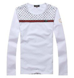 3f3f7b6f2c0 Image Unavailable. Image not available for. Color  Gucci T-shirt Men White Long  Sleeve