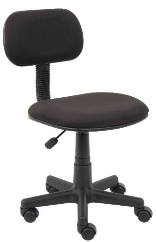 Crepe Task Fabric Chair - Boss Office Products B205-BK Fabric Steno Chair in Black
