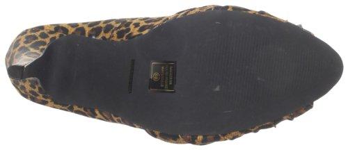 Pinup Couture - zapatos de tacón mujer - Tan Leopard Print Satin
