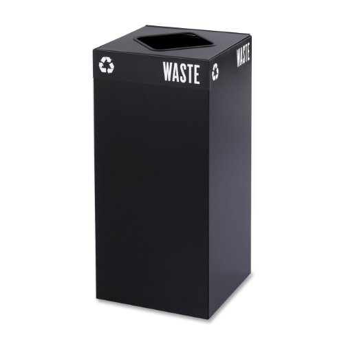(Safco Products 2982BL Public Square Recycling Trash Can Base, 31-Gallon (Top sold separately), Black)