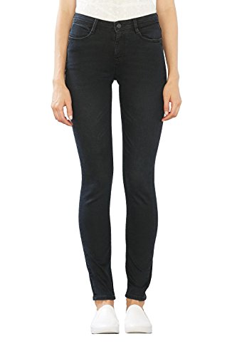 edc by ESPRIT 106cc1b019, Jeans Mujer Negro (Black Dark Wash)