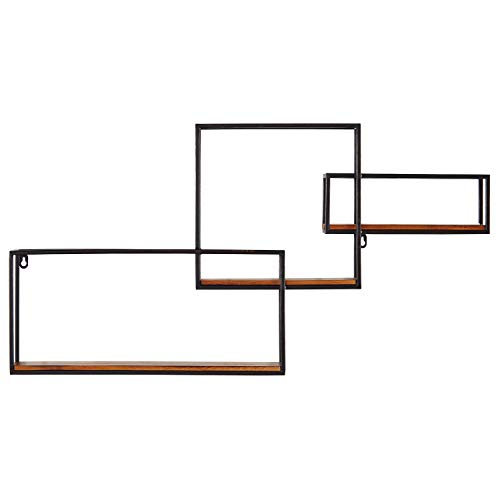 Rivet Contemporary Cubic Iron 3-Shelf Floating Unit - 18.11