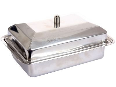 Stainless Steel Butter Dish, Case of 72 by DollarItemDirect