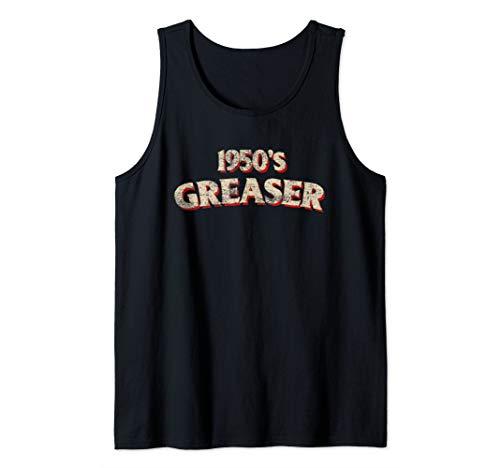 1950s Greaser Retro 50s Vintage Rockabilly Symbol Distressed Tank