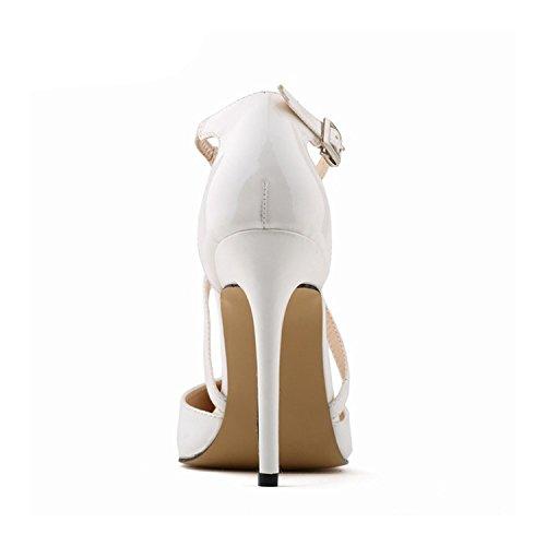 Wedding Ankle Shoes Straps Fashion 36 Pumps New Women Style Party 12 Quality A0032 Women NPZ 2018 ICqwzFxx