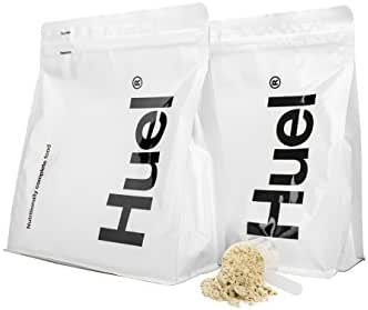 Huel Unflavored Unsweetened Nutritionally Complete Food Powder - 100% Vegan Powdered Meal (2 Pouches - 7.7lb - 28 meals)
