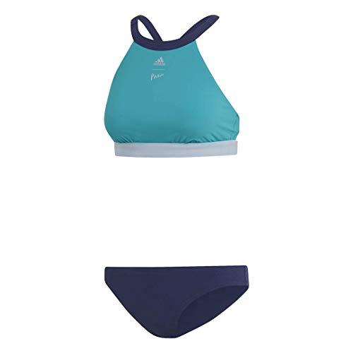 adidas Women's Parley Hero Chlorine-Resistant Beach Bikini, Green/Legend Ink, 28