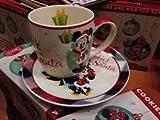Disney Park Retro Holiday Christmas Mickey Mouse Plate Mug Cookies for Santa Set