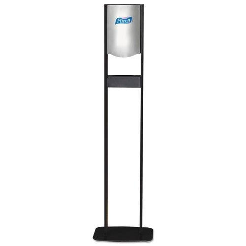 PURELL Elite LTX Floor Stand Dispenser Station, For 1200mL Refills, Chrome/Black - Includes one dispenser station.