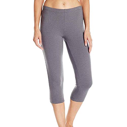 (TOTOD Yoga Pants for Women Women's High-Waist Hip Stretch Solid Running Fitness Leggings Crop Skinny Trousers Gray)