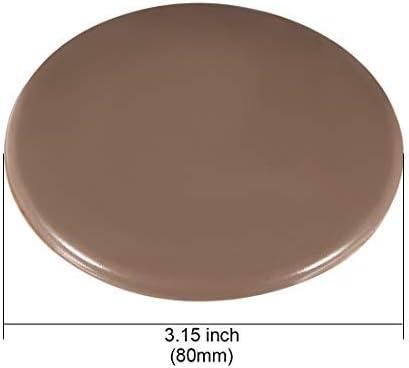 80mm Wall Protectors Self-Adhesive Door Handle Stop Protector Stop Silicone Stop Brown