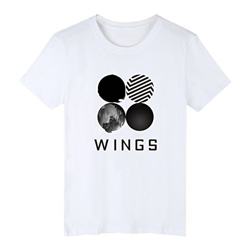 BTS Album Wings T-shirt SUGA JUNG KOOK Rap Monster Couple Shirt