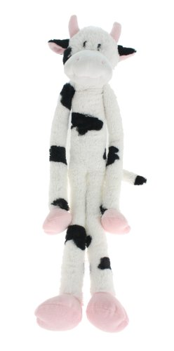 Multipet Swingin Slevin XXL Oversized 30-Inch Spotted Cow Plush Dog Toy