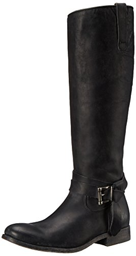 FRYE Women's Melissa Knotted Tall Riding Boot,  - Frye Melissa Black Boot