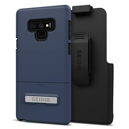 Seidio Surface Case and Holster Combo with Kickstand for Samsung Galaxy Note 9 (Midnight Blue/Black) ()