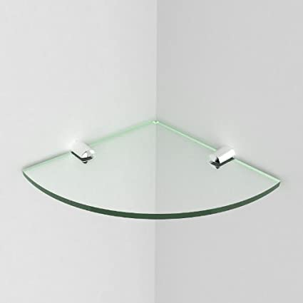 Genuine item as shown only available from Expression Products Small Acrylic Corner Bathroom Shelf Glass Effect by Expression Products 150mm approx 6