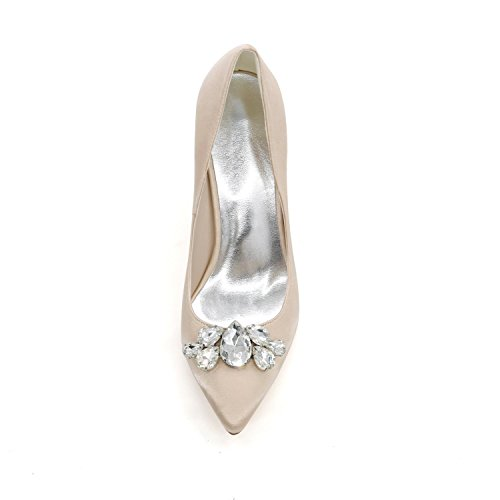 L@YC Frauen High Heels 0608-01B zeigte weg Plattform-Hochzeits-Kleid-kundenspezifischer abend Blue