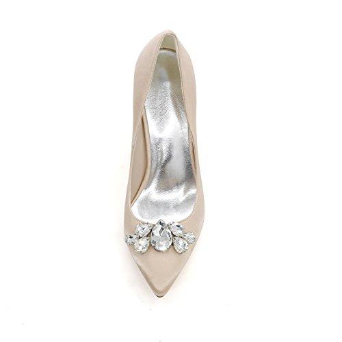 L@YC Women'S High Heels 0608-01B Pointed Off Platform Wedding Dress Custom Evening Purple bvFi8