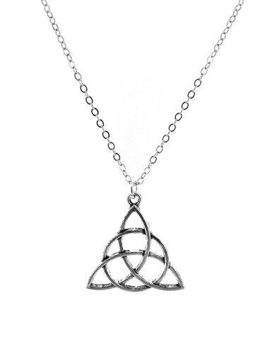 Fallen Saint Triquetras (Charmed Symbol) Necklace - Gift Boxed -S