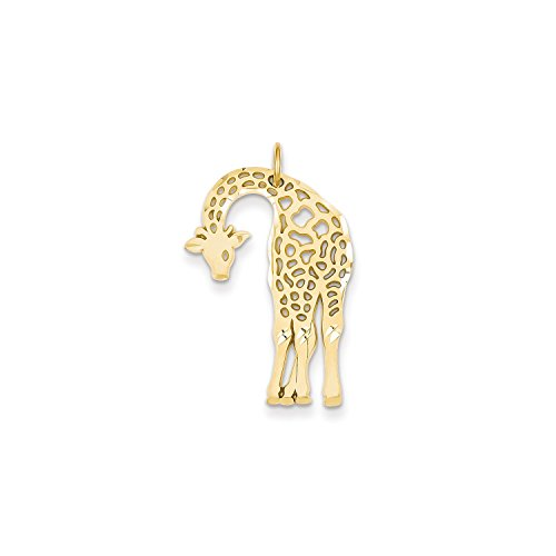 Roy Rose Jewelry 14K Yellow Gold Giraffe Charm (Giraffe 14k Gold Yellow)