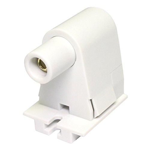 General 02536 - Slimline Single Pin Shallow Base Pedestal Slide-ON Quickwire Fluorescent Lamp Holder Plunger End Socket (FE315 2536 PLNGR -