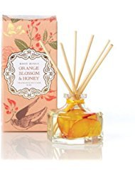 Rosy Rings Orange Blossom & Honey Petite Botanical Reed Diffuser – 3 Oz (Blossom Linden Orange)