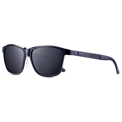 d7bf8dadad wearPro Wayfarer Sunglasses for Men Women Vintage Polarized Sun Glasses  WP1001 Black ...
