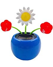 Solar Powered Dancing Flowers Cute Swinging Insect Animal Dancer, Insect Sunflower Flip Flap Flowers, Eco-Friendly Solar Bobblehead Dancing Flowers for Car & Home Decoration Gift