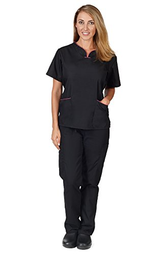 Natural Uniforms Womens Contrast Scallop