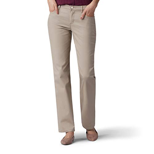 LEE Women's Relaxed Fit Straight Leg Jean, Biscotti, 4 Short