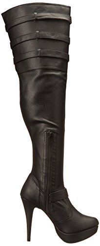 308 Label Pleaser Faux Chloe Pink Leather Blk 7fq0qHx6