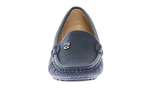 Mocassins KIKI Comfort CALICO Shoes On Women's Slip Loafers Flats Navy OFSOIq